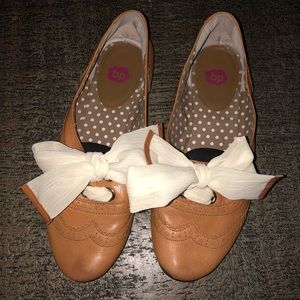 Nordstrom BP Leather Bow Flats (6)